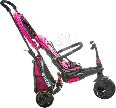 Tříkolky - Tříkolka skládací smarTfold 400S Pink 6v1 smarTrike TouchSteering růžová kompaktní s EVA kolečky od 9 měsíců_1