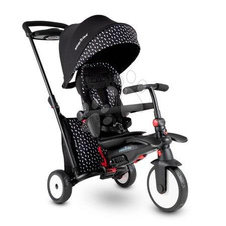 Tricikl i kolica sklopivi  STR5 Black&White 7u1 smarTrike s pomičnim sjedalom TouchSteering s EVA kotačićima od 9 mjes