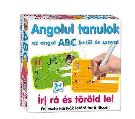 Tablă didactică pentru desenat Scrie pe ea şi sterge-o! Dohány Învăţ în limba engleză cu cărţi educative