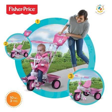 smarTrike 1460233 ružová trojkolka Fisher-Price Elite Pink od 10 mesiacov