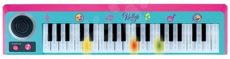 Hračky pre deti od 3 do 6 rokov - Elektronické piano s 37 klávesnicami Kally's Mashup Nickelodeon Smoby s efektami a reguláciou hlasitosti od 5 rokov