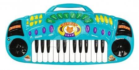 Elektronické piano 44 Cats Smoby s 8 písničkami se zvukem a světlem a s nahráváním od 5 let