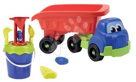 Autíčka a trenažéry - Nákladní auto Truck XL Écoiffier 63 cm s kbelík setem a mlýnem do písku od 18 měsíců