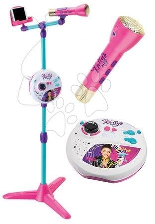 Hračky pre deti od 3 do 6 rokov - Mikrofón so stojanom Kally's Mashup Smoby 3v1 kompatibilné s audio prehrávačmi karaoke a rôzne zvukové a svetelné efekty od 5 rokov