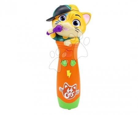 Mikrofón 44 Cats Smoby so 4 pesničkami so zvukom a svetlom a s rôznymi funkciami od 5 rokov