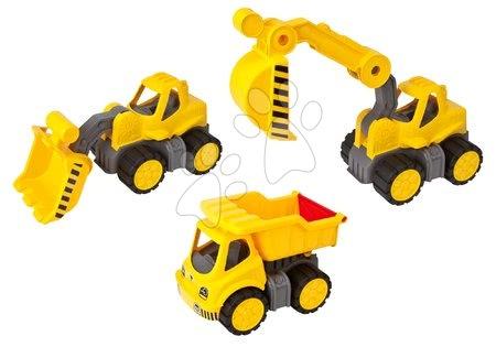 Autíčka a trenažéry - Set pracovních aut BIG Power Worker XL 3 druhy s gumovými kolečky od 24 měsíců
