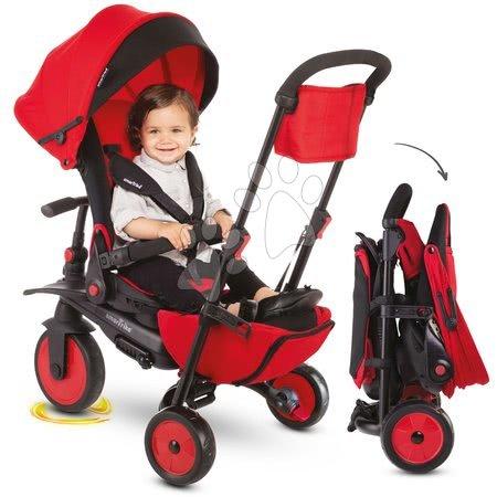 Tricicletă și cărucior pliabil STR7J Urban 8în1 smarTrike roșie cu scaun rabatabil TouchSteering și roți EVA de la 6 luni