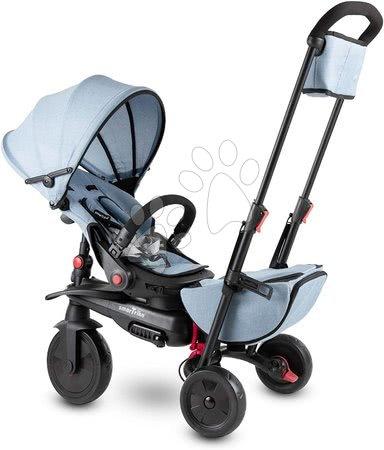 Tricicletă și cărucior pliabil STR7 Urban 8în1 smarTrike Jeans cu scaun rabatabil TouchSteering și roți EVA de la 6 luni ST5503211