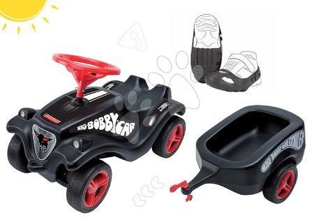 Odrážadlá - Set odrážadlo auto Fulda Bobby Car BIG a prívesný vozík a ochranné návleky na topánky Shoe-Care od 12 mes