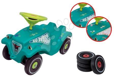 Set odrážedlo autíčko Little Star BIG Bobby Car Classic s klaksonem a náhradní kola 4 ks od 12 měsíců
