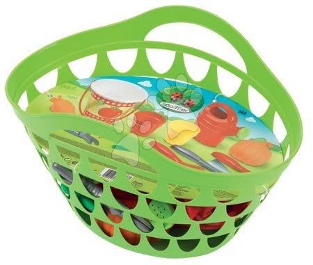 Košík so záhradkárskym náradím Écoiffier s 11 doplnkami od 18 mesiacov zelený