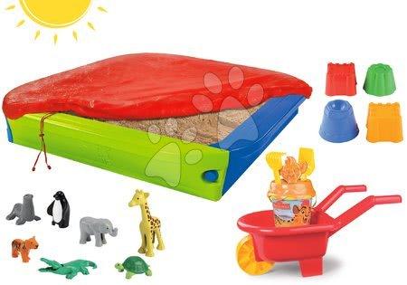 Set pieskovisko BIG s plachtou a fúrik Levia hliadka s vedro setom a formičky so zvieratkami z džungle od 12 mes