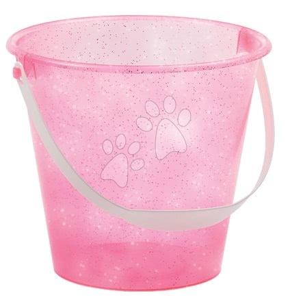 Kbelík do písku Écoiffier s třpytkami výška 16 cm růžové od 18 měsíců