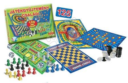 Súbory hier - Sada spoločenských hier pre rodinu 125 druhov Dohány