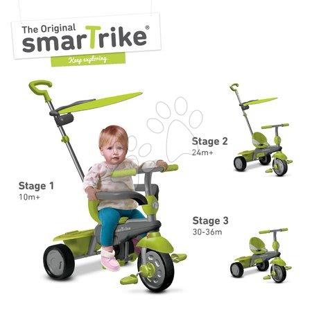 Trojkolka Carnival Green Touch Steering 3v1 smarTrike od 10 mesiacov zeleno-šedá