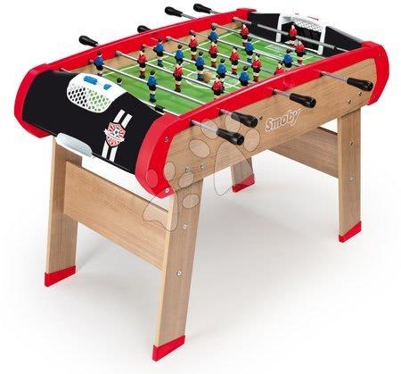 Jocuri de societate - Masă de fotbal din lemn BBF Champions Smoby cu 2 mingi de la 8 ani