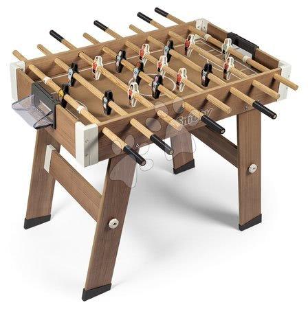 Jocuri de societate - Fotbal de masă din lemn Click&Goal Soccer Table Smoby pliabil și asamblabil în 10 minute cu 2 mingiuțe de la 8 ani