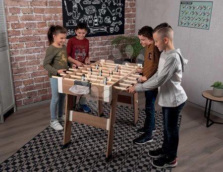 Jocuri de societate - Fotbal de masă din lemn Click&Goal Soccer Table Smoby pliabil și asamblabil în 10 minute cu 2 mingiuțe de la 8 ani_1