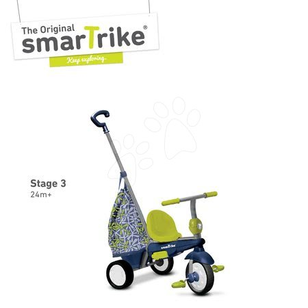 smarTrike - Trojkolka Groove Touch Steering 4v1 smarTrike s nákupnou taškou modro-zelená od 10 mes_1