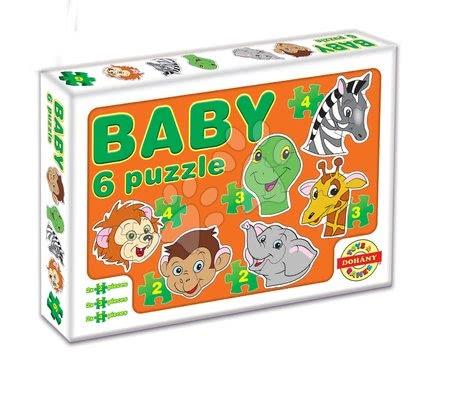 Puzzle pentru copii  - Baby puzzle animale exotice Dohány cu 6 imagini de la 24 luni