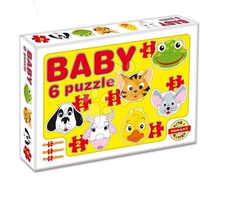 Puzzle pentru copii  - Baby puzzle animale de casă Dohány cu 6 imagini de la 24 luni