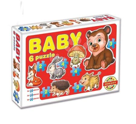 Puzzle pentru copii  - Baby puzzle animalele din pădure Dohány cu 6 imagini de la 24 luni