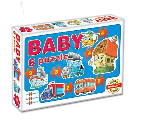 Puzzle pentru copii  - Baby puzzle mijloacele de transport Dohány cu 6 imagini de la 24 luni