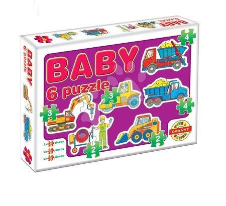 Puzzle pentru copii  - Baby puzzle utilaje de construcţie Dohány cu 6 imagini de la 24 luni
