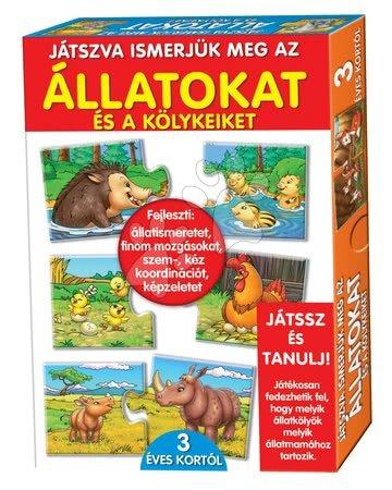 Jocuri de societate pentru copii - Joc educativ Animale şi puii lor Dohány 32 bucăţi