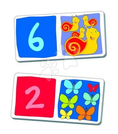 Domino a Lotto - Domino pre najmenších Čísla Dohány 28 ks_1