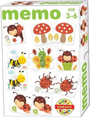 Pexeso - Pexeso s chrobáčikmi Memo hra Dohány 32 ks od 3 rokov