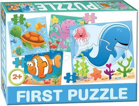 Hračky pro nejmenší - Puzzle Baby First Oceán Dohány 4obrázkové od 24 měsíců