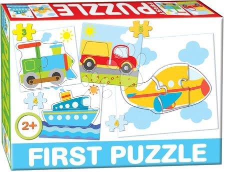 Hračky pro nejmenší - Puzzle Baby First Dopravní prostředky Dohány 4obrázkové od 24 měsíců