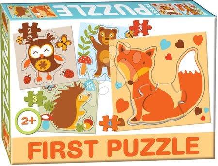 Hračky pro nejmenší - Puzzle Baby First Lesní zvířátka Dohány 4obrázkové od 24 měsíců
