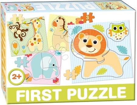 Hračky pro nejmenší - Puzzle Baby First Safari Dohány 4obrázkové od 24 měsíců