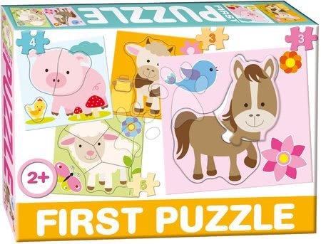 Hračky pro nejmenší - Puzzle Baby First Farma Dohány 4obrázkové od 24 měsíců