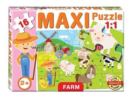 Puzzle pentru copii  - Baby puzzle Maxi Farm Dohány cu 16 piese de la 24 luni