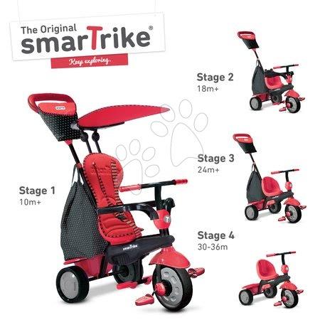 smarTrike - Trojkolka Glow Touch Steering 4v1 Black&Red smarTrike červeno-čierna od 10 mes_1