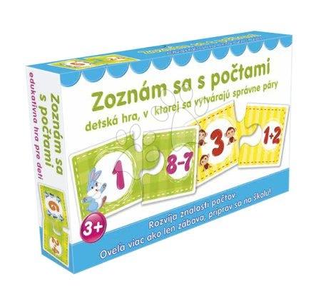 Jocuri de societate pentru copii - Joc de asociere Fă cunoştinţă cu numărat Dohány (limbi SR, CR, HU,RO)