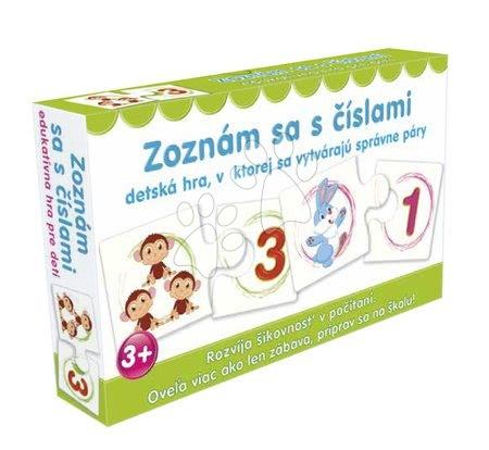 Jocuri de societate pentru copii - Joc de asociere Fă cunoştinţă cu numerele Dohány (limbi SR, CR, HU,RO)