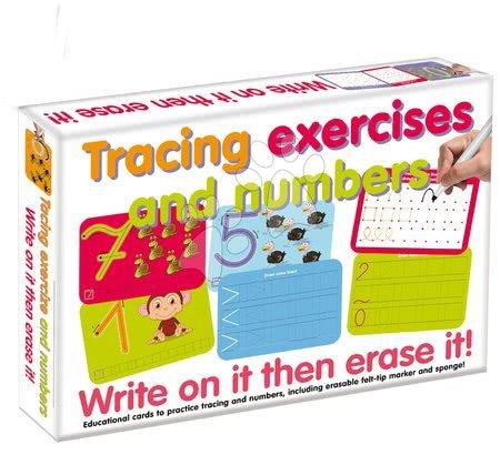 Joc dezvoltător de abilităţi Exerciţiu de conducere a liniei şi numere- scrie pe el apoi şterge Dohány în diferite limbi de la 3 ani