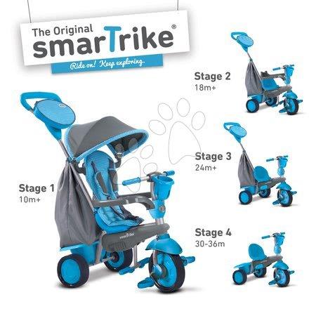 Trojkolka Swing 4v1 Blue Touch Steering smarTrike od 10 mesiacov modro-šedá