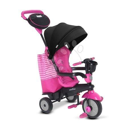 Tříkolky - Tříkolka SWING DLX 4v1 Pink TouchSteering smarTrike s tlumičem a volnoběhem + UV filtr růžová od 10 měsíců