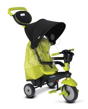 Tříkolky - Tříkolka Deluxe Green Touch Steering 4v1 smarTrike s tlumičem a 2 taškami zeleno-černá od 10 měsíců_1