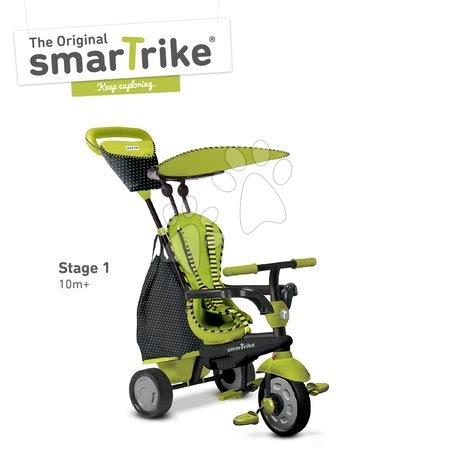 Tricicletă Glow Touch Steering 4in1 Black&Green smarTrike verde-negru de la vârsta de 10 luni