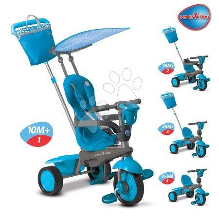 Trojkolka Spirit Touch Steering smarTike od 10 mesiacov modro-šedá