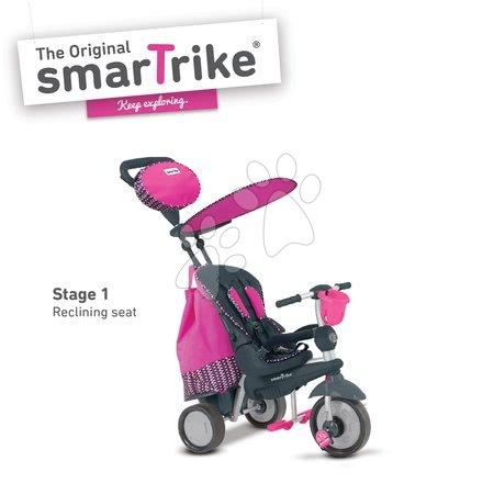 Tricikli Splash 5in1 Pink smarTrike 360° irányítás dönthető háttámlával rózsaszín-szürke 10 hó-tól
