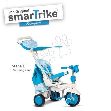 Trojkolka Splash 5v1 Blue&White smarTrike 360° riadenie s polohovateľnou opierkou modro-krémová od 10 mes
