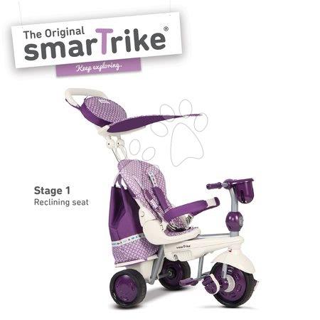 Trojkolka Splash 5v1 Purple&White smarTrike 360° riadenie s polohovateľnou opierkou fialovo-krémová od 10 mes