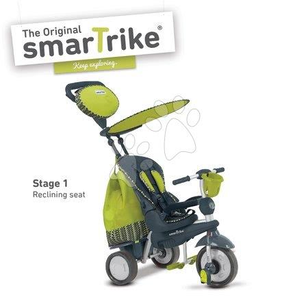 Tricikli Splash 5in1 Green smarTrike 360° irányítás és állítható háttámla zöld-szürke 10 hó-tól